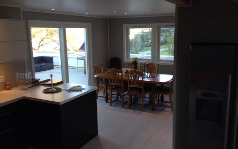 PJTC: Kitchen Design with Living Room in Bearsden and Milngavie